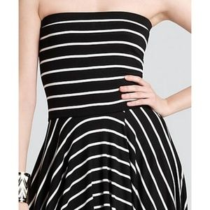 Aqua High Low Dress - Stripe Tube